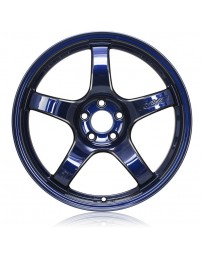Gram Lights 57CR 18x10.5 +12 5x114.3 Eternal Blue Wheel
