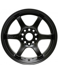 Gram Lights 57DR 15x8.0 +35 4-100 Semi Gloss Black Wheel