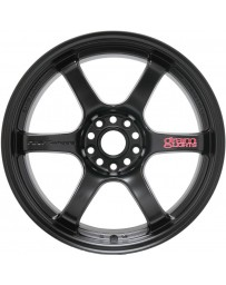Gram Lights 57DR 17x9.0 +38 5-100 Semi Gloss Black Wheel