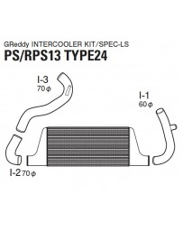 GReddy Type 24F Front Mount Intercooler Kit Nissan 180SX / 240SX S13 1989-1994
