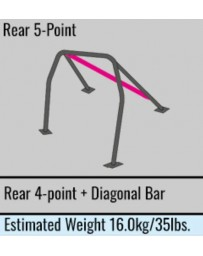 Toyota Yaris GR 20+ MK2 Cusco SAFETY 21 Roll cage 5-Point, Rear, 2 Passenger with Diagonal Bar