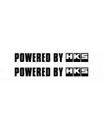 HKS Sticker POWERED BY HKS W200 BLACK