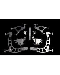 FDF RaceShop TOYOTA SUPRA/SOARER MANTIS ANGLE KIT With Billet inner tierod adaptor & 7075 tierod FDF Silver