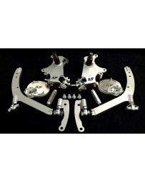 FDF RaceShop FORD MUSTANG S197 MANTIS ANGLE KIT Without Caster Plates With On Car Adjustment FDF Silver
