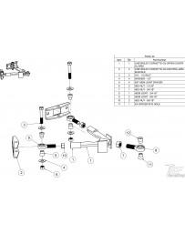 FDF RaceShop CORVETTE C5/C6 UPPER CONTROL ARM ASSEMBLY C5/C6 5/8 3/4 - 16 Chromoly Heim joint x1
