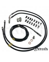 300zx Z32 GKTech 2 Pot Nissan Stand Alone Ss Braided Brake Line Kit - Nissan Skyline R32 R33 R34, 240SX S13 S14 S15