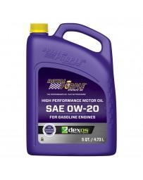 Royal Purple API-Licensed Multi-Grade SAE 0W-20 Synthetic Motor Oil, 1 Quart x 6