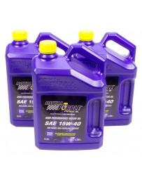 Royal Purple Duralec Super SAE 15W-40 Synthetic Diesel Motor Oil, 1 Gallon x 3
