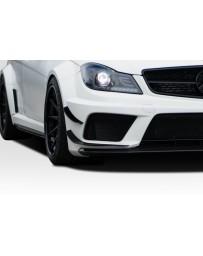 2012-2014 Mercedes C63 W204 2DR / 4DR Coupe Sedan Duraflex Black Series Look Front Bumper Canards - 4 Piece
