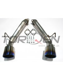 370z AAM Competition S-Line Axle Back Short Tail Exhaust for Nismo - Burnt titanium tips