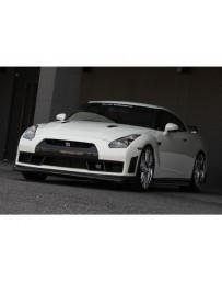 VeilSide FULL Carbon Complete Kit With Carbon Lip CFRP 4 Small Emblems Nissan GTR R35 Skyline 2009-2011