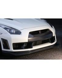 VeilSide Carbon Complete Kit Carbon Accent Front Bumper & Carbon Lip CFRP 4 Small Emblems Nissan GTR R35 Skyline 2009-2011