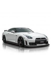 VeilSide 09-11 Nissan GTR R35 Ver. I Model Front Lip Spoiler (Carbon) 1 Small Emblem only for 12-20 Vehicle with VS Front Bumper