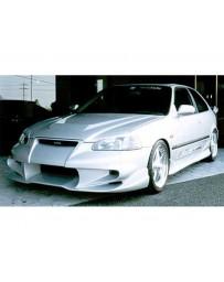 VeilSide 1996-1998 Honda Civic HB EK4 EC-I Model Front Bumper Spoiler (FRP)