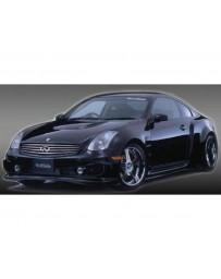 VeilSide 2003-2007 Infiniti G35 - Nissan Skyline V35 Coupe Fortune Model Complete kit with Carbon Hood & Carbon Spoiler