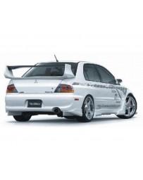 VeilSide 2003-2007 Mitsubishi Lancer EVO VIII & IX CT9A Ver. I Model USDM Spec Rear Under Spoiler (CARBON)
