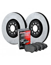 EVO 8 & 9 StopTech High Carbon Rear Brake Rotor and Rear Semi-Metallic Brake Pads