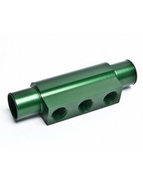 "R35 Radium Engineering 3-Port Hose Adapter For 3/4"" ID Hose, Green"