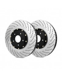 R35 StopTech AeroRotor Drilled 2-Piece Rear Driver Side Brake Rotors