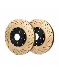 R35 StopTech AeroRotor Drilled 2-Piece Front Passenger Side Brake Rotors