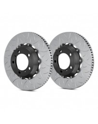 R35 Brembo GT Series Curved Vane Type III Slotted Vented 2-Piece Rear Brake Rotors