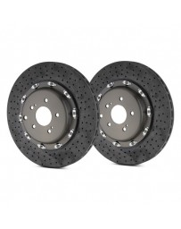 R35 Brembo GT Series Cross Drilled CCM-R Vented 2-Piece Front Brake Rotors