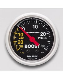R33 Autometer Sport-Comp Mechanical Boost Gauge 30 PSI - 52mm