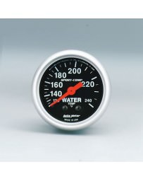 R33 Autometer Sport-Comp Mechanical Water Temperature Gauge 120-240 Deg F - 52mm