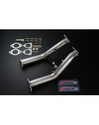 370z Tomei Expreme Exhaust Ti Full Titanium Cat Straight Pipe, Test Pipes