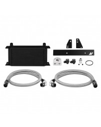 370z Mishimoto Black Aluminum Oil Cooler Kit without Thermostatic