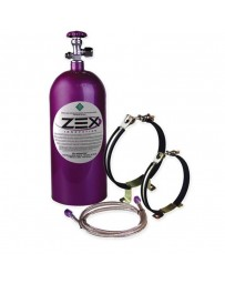 370z ZEX Nitrous Bottle Kit Maximizer - Purple, Bottle Brackets, Fittings, Braided Stainless Steel Lines