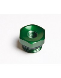 R35 Radium Engineering Female Adapter Fitting 3/4-16 O-Ring To 1/8 NPT, Green