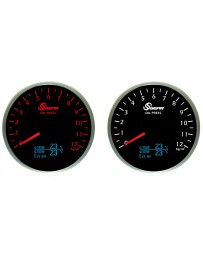 370z Sgear Imperial Electronic All In One Oil Pressure / Water & Oil Temp / Voltage Gauge - Red & White OLED 60mm