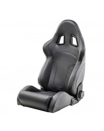 370z Sparco R600 Seat, Black Leather - Universal