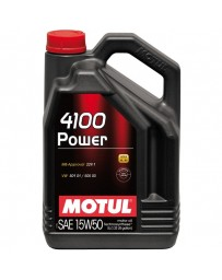 370z Motul 4100 POWER 15W50 Synthetic Engine Oil - 5 Liter