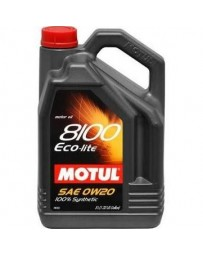 370z Motul 8100 ECO-LITE 0W20 Synthetic Engine Oil - 5 Liter