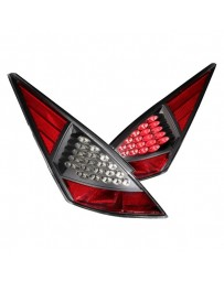 350z DE Anzo Black/Red LED Tail Lights 2003-2005