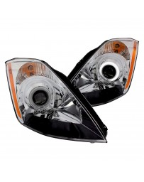350z DE Anzo Chrome CCFL Halo Projector LED Headlights 2003-2005
