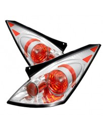 350z DE 2003-2005 Spyder Euro Style Tail Lights Chrome ALT-YD-N350Z02-C