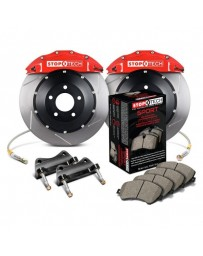 350z StopTech 6Pot Front Big Brake Kit - Red/Slotted