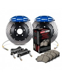 350z StopTech 4Pot Rear Big Brake Kit - Blue/Drilled