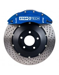 350z StopTech 6Pot Rear Big Brake Kit - Blue/Drilled