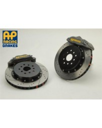 350z AP Racing 4-Piston Rear Iron Hat Drilled/Slotted RT Big Brake Kit- Competition Gray Calipers