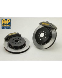 350z AP Racing 4-Piston Rear Aluminum Hat Slotted RT Big Brake Kit - Competition Gray Calipers