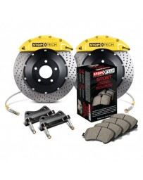 350z StopTech 6Pot Front Big Brake Kit - Yellow/Drilled