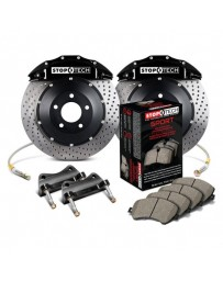 350z StopTech 6Pot Front Big Brake Kit - Black/Drilled