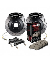 350z StopTech 4Pot Rear Big Brake Kit - Black/Drilled