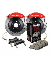 350z StopTech 6Pot Front Big Brake Kit - Red/Drilled