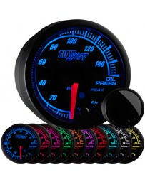 350z GlowShift Elite 10 Color Oil Pressure Gauge
