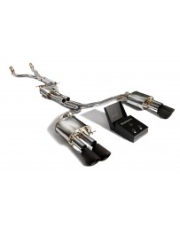 ARMYTRIX Stainless Steel Valvetronic Catback Exhaust System Quad Matte Black Tips Audi A5 B8 Sportback 3.0 TFSI V6